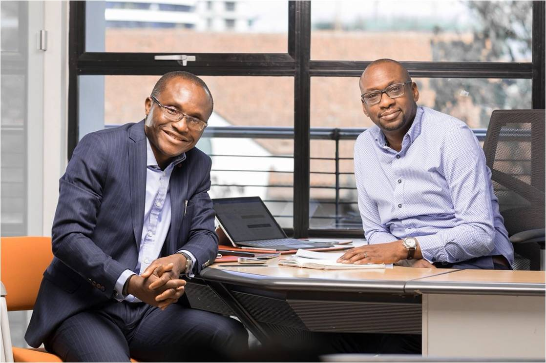 Cellulant Co founders, Bolaji Akinboro (L) and Ken Njoroge
